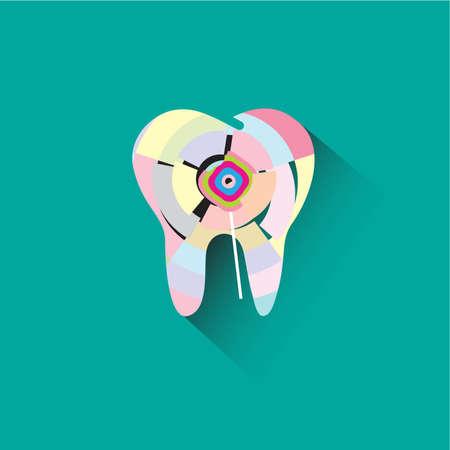 diente caries: La caries dental es causada por el icono de caramelo