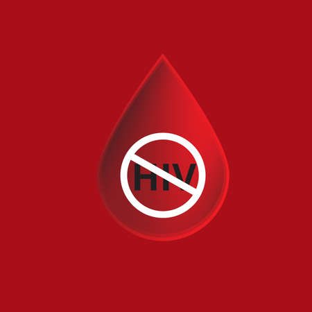 condoms: Blood safety HIV icon Illustration