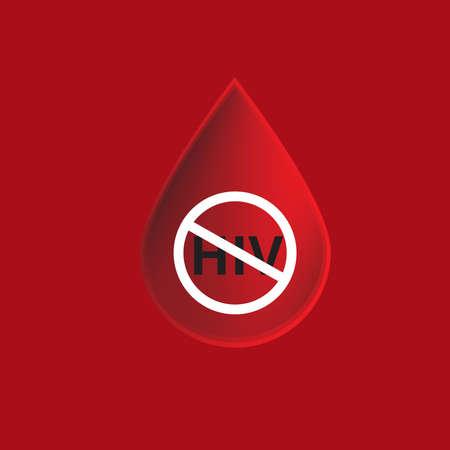 condones: Seguridad de la sangre icono VIH Vectores