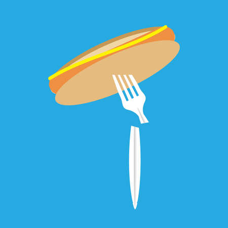bratwurst: Hot Dog Variations. Sausage, Bratwurst and other vector illustrations of Junk Food Illustration