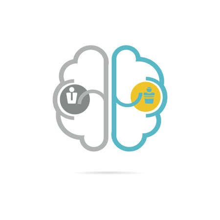 clinical psychology: Left Brain Right Brain icon