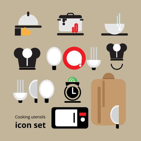 utensils: Cooking utensils icon set