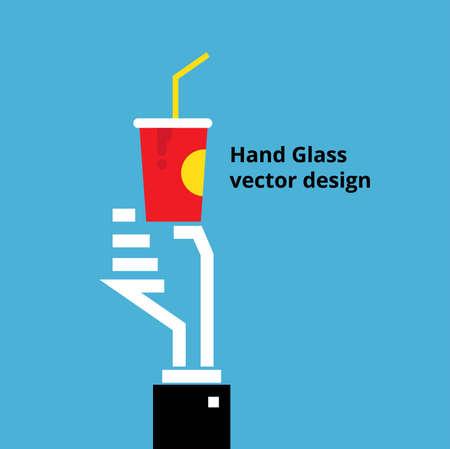 hand paper: hand Paper cup Vector Design