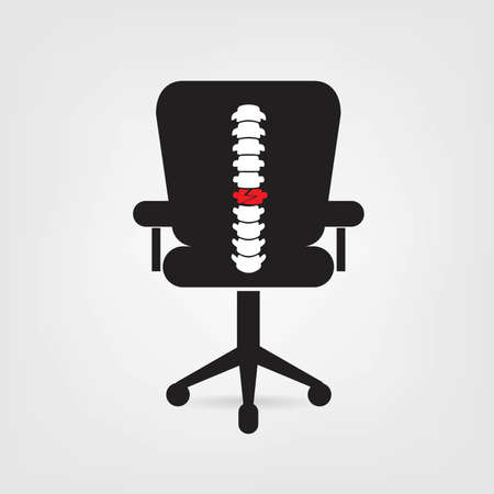 Spine chair design icon Ilustrace