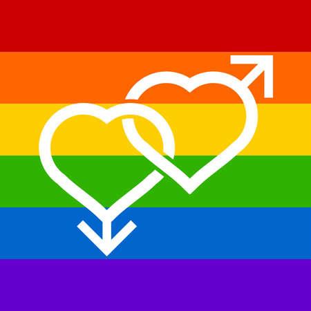 sex discrimination: homosexual vector design. Illustration