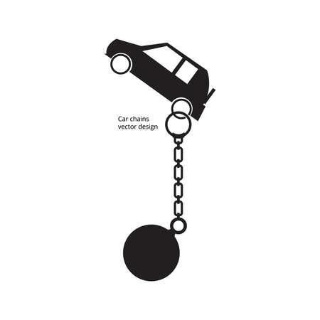 liabilities: Car chains vector design