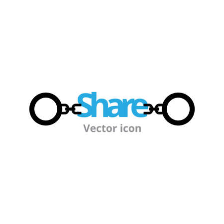 shackle: share icon shackle vector