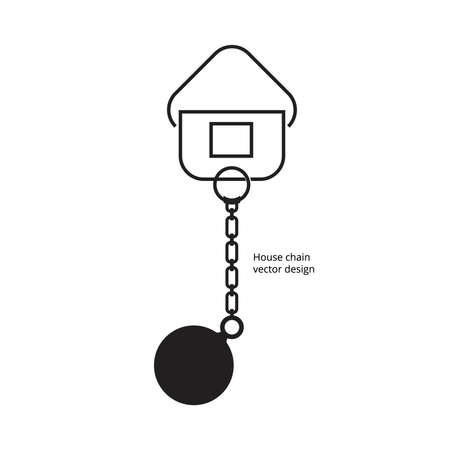 liabilities: House chain of vector design