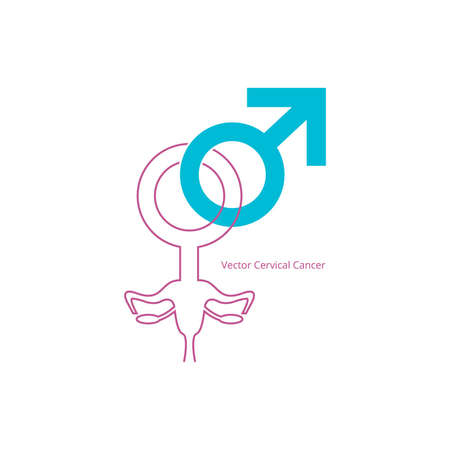 gynecologist: Vector Cervical Cancer Illustration