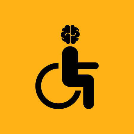 Disabled person sitting in the wheelchair Illustration