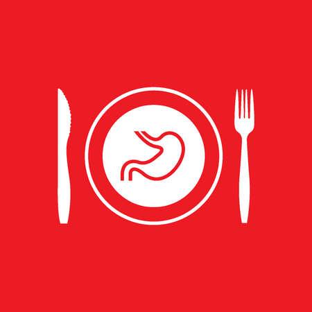 fork in path: Fast food utensils vector design.