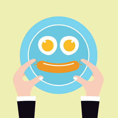 breakfast plate: smiling breakfast plate