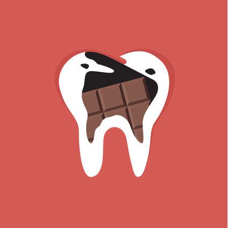 cavities: Chocolate cavities vector design. Illustration