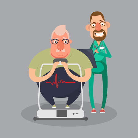 Cardiovascular disease prevention test, heart diagnostic, medical monitor screen, undergo ekg procedure, check up hypertension risk