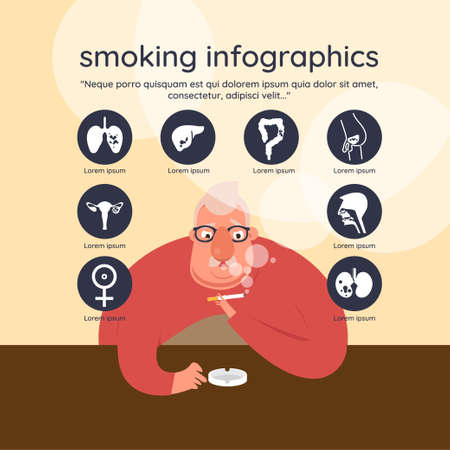 Dangers of smoking infographics.vector illustration