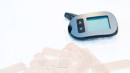 Sugar detector On white ground Stock Photo
