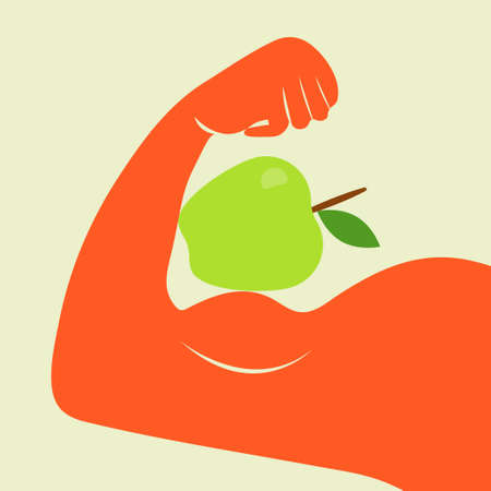 Strong icon. Vector concept illustration for design. Illustration