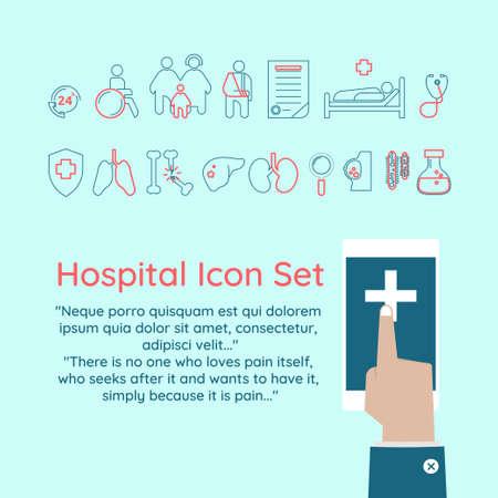 Hospital Icon Set Illustration