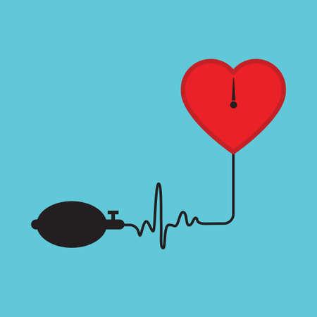 blood pressure icon vector Illustration