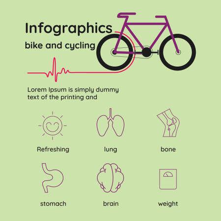 bicicleta y ciclismo. infografias