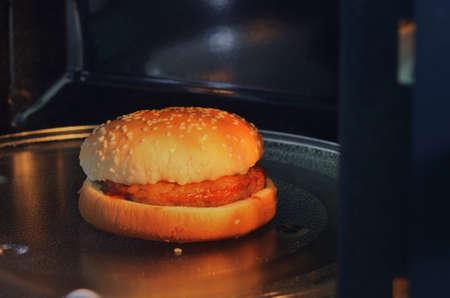 The microwave oven is warm pork Reklamní fotografie