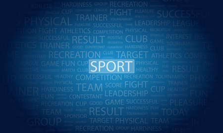 emplate: sport Word background