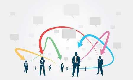 voices: Social group Communication Business Illustration