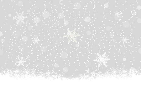 blank winter snowfall and christmas background