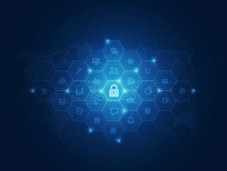 Internet security data concept background