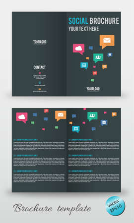 Brochure template editable vector Vector