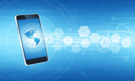 Technology communication internet connection background photo