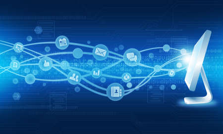 international network:  Technology internet connection business background