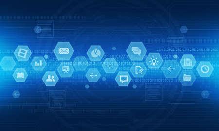 Internet technology online business background Standard-Bild