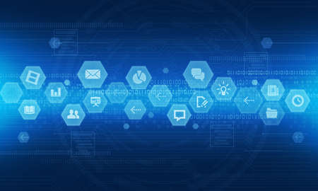 Internet technology online business background Banque d'images