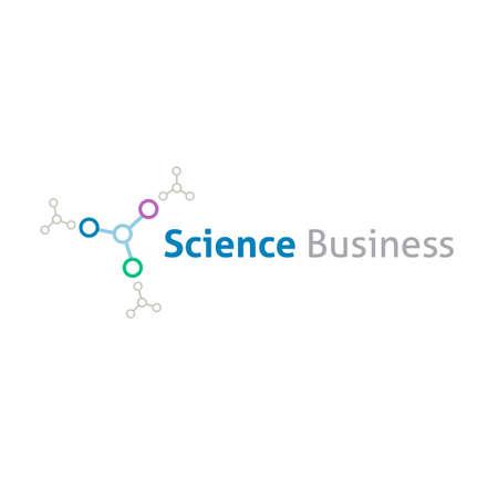 Scienza chimica business logo modello Archivio Fotografico - 31556312