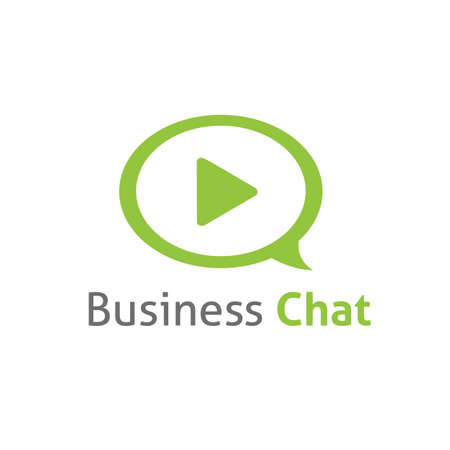 message vector: Business chat message vector template