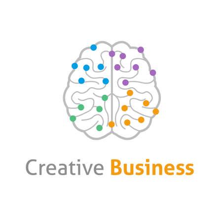 mind power: Brain creative vector design desogn concept Illustration