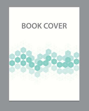 cover concept: Vector book flyer brochure cover template design Illustration