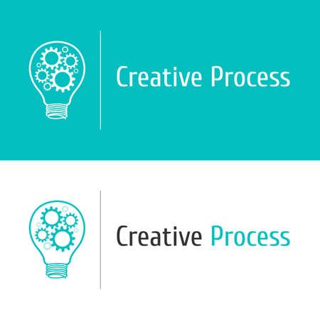 design solutions: gears bulb design template concept Illustration