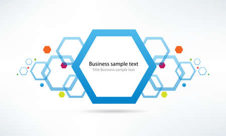 vecter: Abstract vecter infor hexagon template