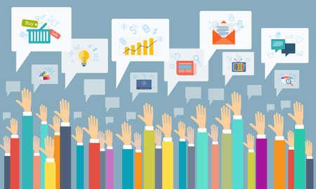 Vektor Social Business Kommunikation