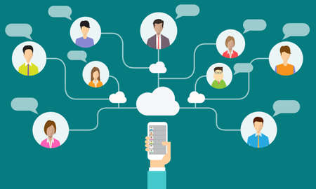wireless connection: social network communication and business connection on mobile