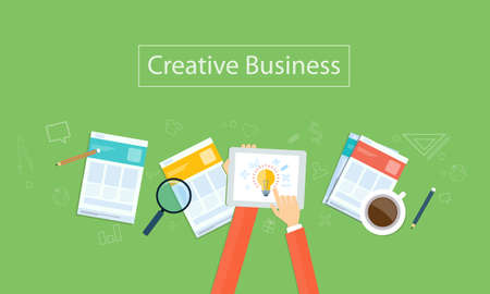 research paper: creative business idea background Illustration