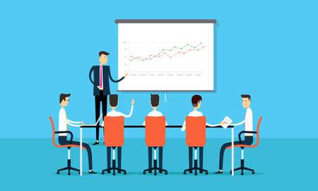 sala de reuniones: Las personas presentación proyecto empresarial con el equipo