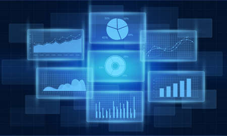 finance background: Business financial graph and report background Stock Photo