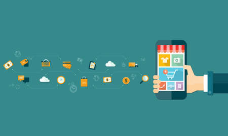 online advertising: business mobile online shopping and e-marketing on mobile