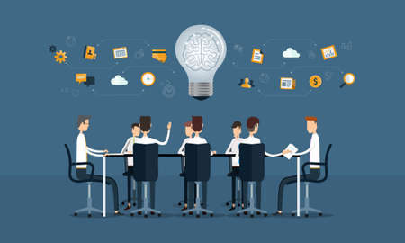 vector business teamwork meeting and brainstorm Vector