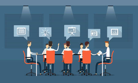 vector business teamwork meeting and communication Vektorové ilustrace