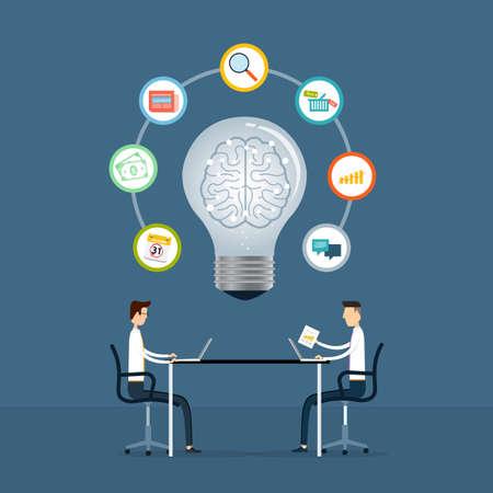 business team: business team meeting to creative idea Illustration