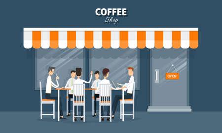 business team: people business team meeting